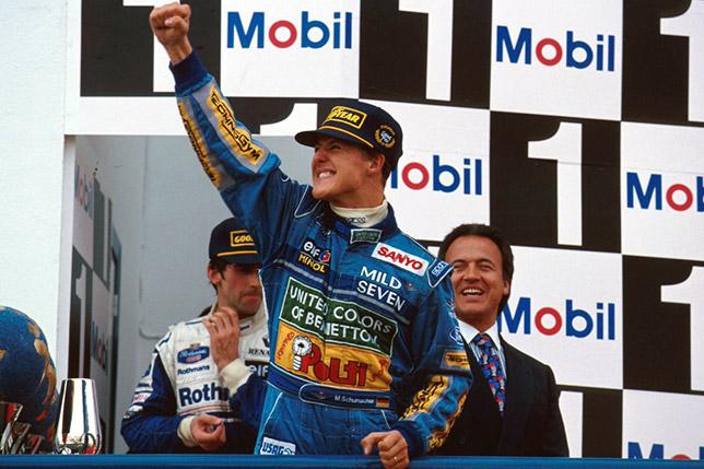 Подиум Гран При Европы 1994 года в Хересе