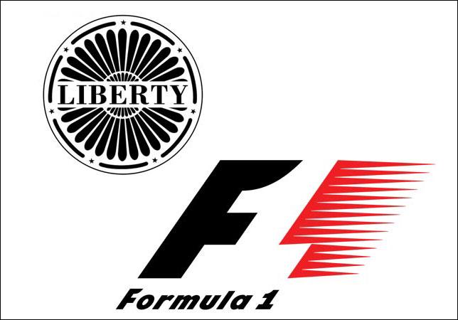 Логотипы Liberty Media и Формулы 1