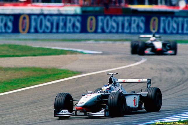 Мика Хаккинен и Дэвид Култхард на Гран При Германии 1998 года