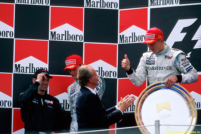 Подиум Гран При Испании 1999 года