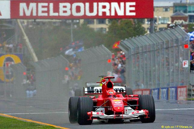 Михаэль Шумахер выигрывает Гран При Австралии 2004 года