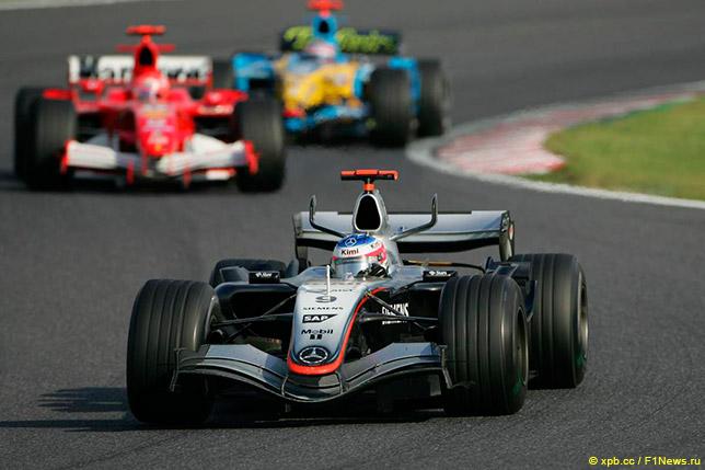 Кими Райкконен на Гран При Японии 2005 года