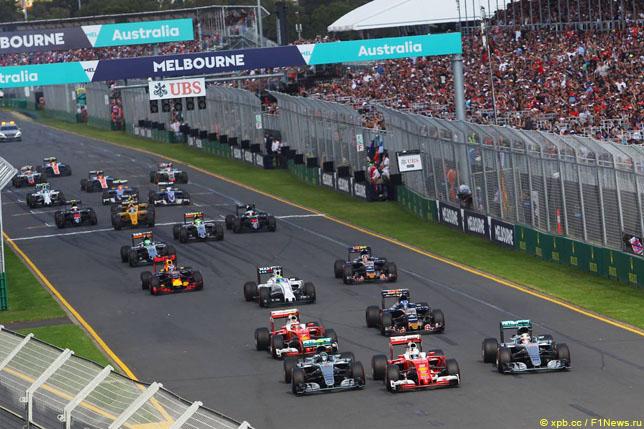 Старт Гран При Австралии, 2016 год