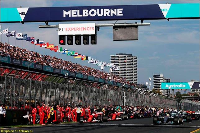 Перед стартом Гран При Австралии