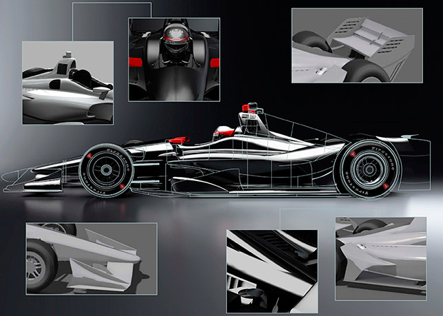 119676 - IndyCar: Представлены изображения машины 2018 года