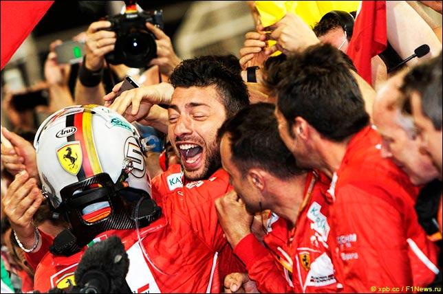 Себастьян Феттель выиграл гонку в Бахрейне