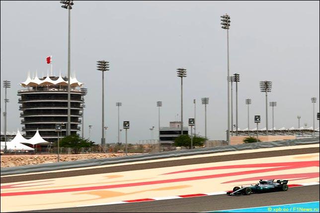 Валттери Боттас на тестах в Бахрейне