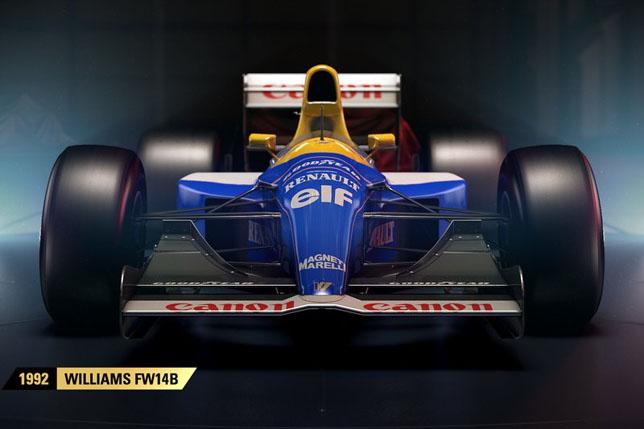 Вигру F1 2017 отCodemasters будут добавлены 12 традиционных авто