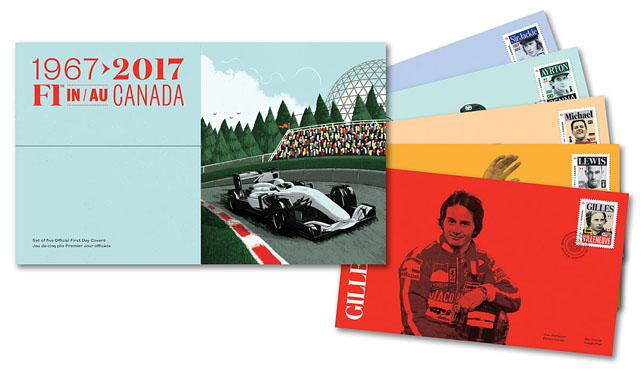 Юбилейный марки в честь 50-летия Гран При Канады