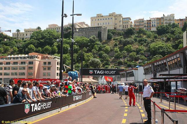 Пит-лейн в Монако