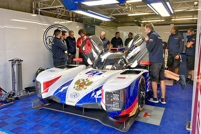 Машина команды SMP Racing в Ле-Мане