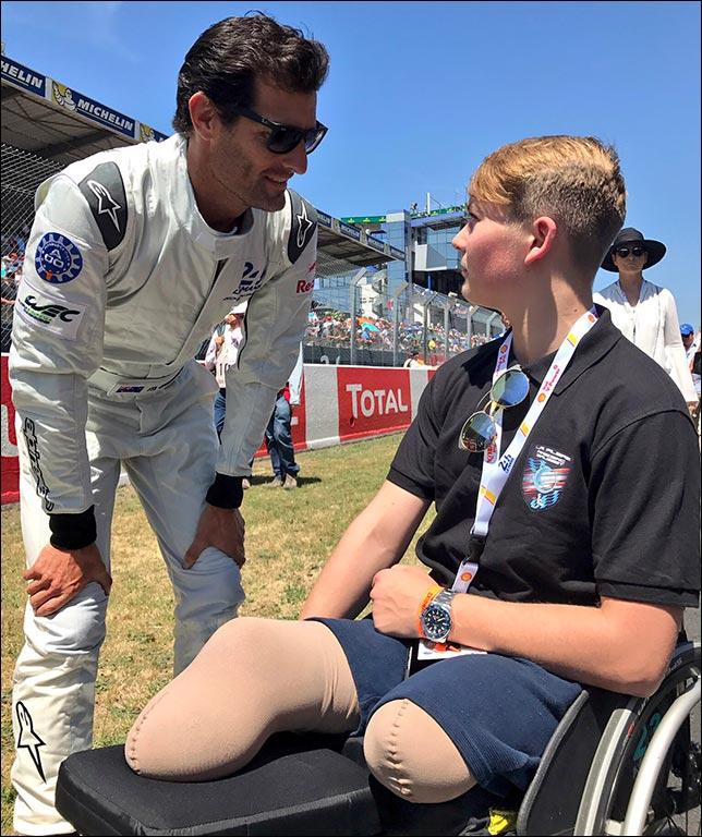 Марк Уэббер и Билли Монгер. Фото: пресс-служба FIA WEC