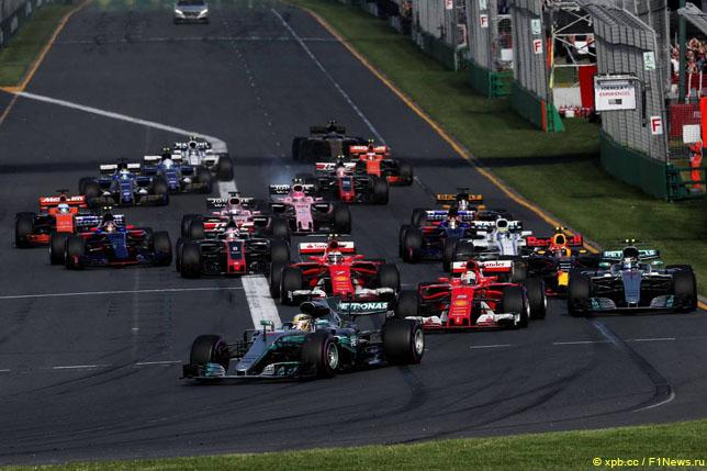 Старт Гран При Австралии, 2017 год