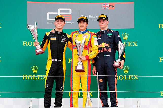 Подиум второй гонки GP3 в Сильверстоуне