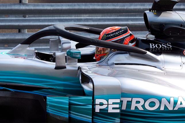 4-я версия Halo на машине Mercedes на тестах в Венгрии