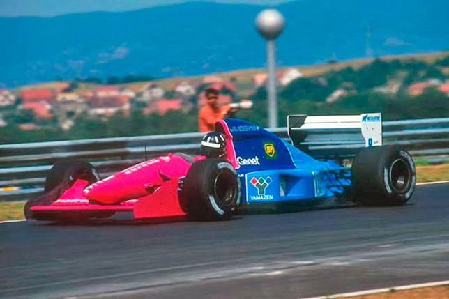 Дэймон Хилл за рулём Brabham на Гран При Венгрии 1992 года