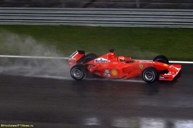 Михаэль Шумахер в Гран При Малайзии, 2001 год