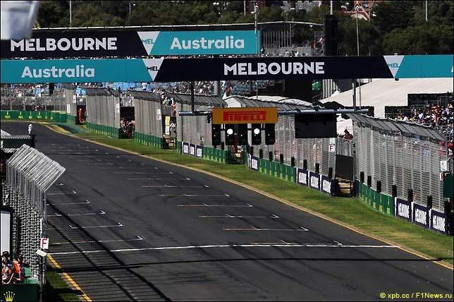 Стартовое поле Гран При Австралии 2018