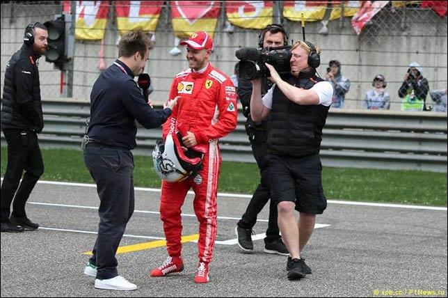 Телевизионное интервью после квалификации