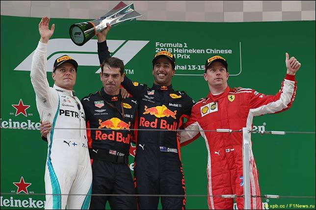 Подиум Гран При Китая