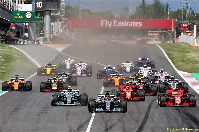 Старт Гран При Испании 2018