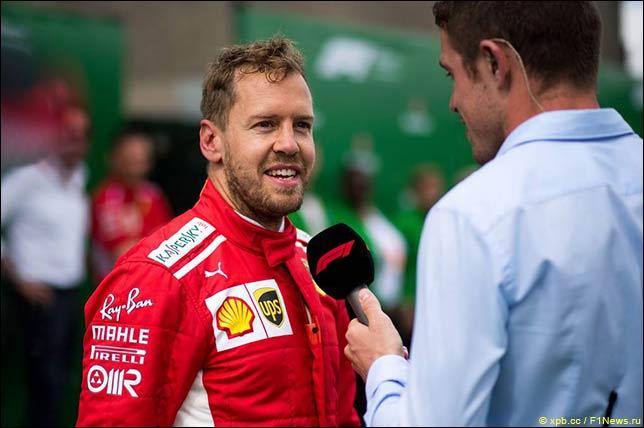 Интервью после гонки