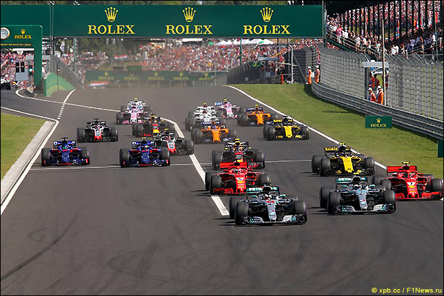 Старт Гран При Венгрии 2018