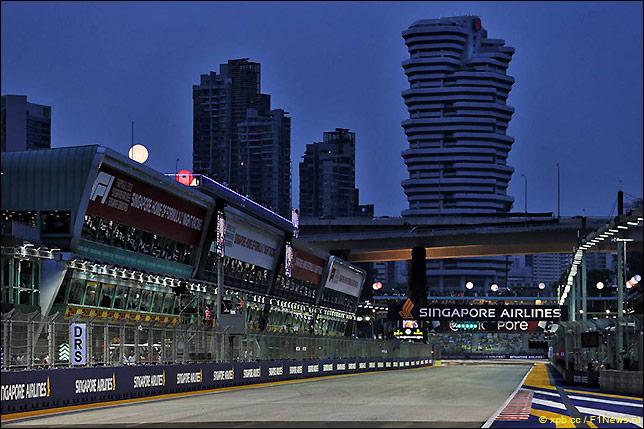 Стартовое поле Гран При Сингапура 2018