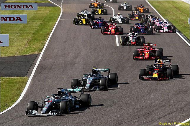 Старт Гран При Японии 2018