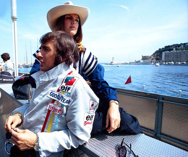 Джеки Стюарт и его жена Хелен в рекламной съёмке Rolex