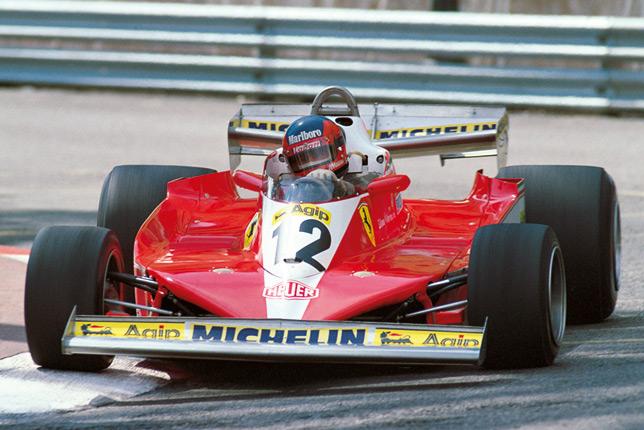 Жиль Вильнёв на Ferrari с радиальными шинами Michelin