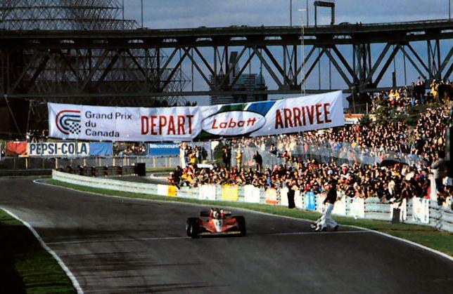 Финиш Жиля Вильнёва на Гран При Канады 1978 года