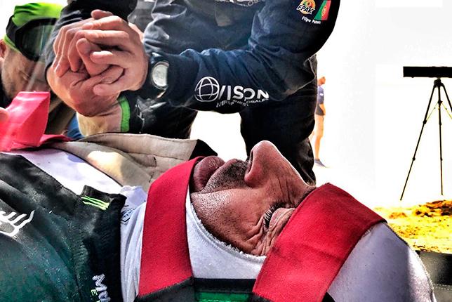 Нани Рома после аварии на третьем этапе ралли-рейда Дакар-2018