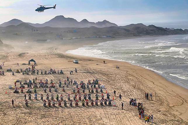 Массовый старт четвёртого этапа ралли-рейда «Дакар-2018»