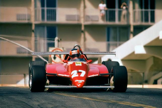 Жиль Вильнёв на Гран При Лонг-Бич (США-Запад) 1982 года. Фото Ferrari