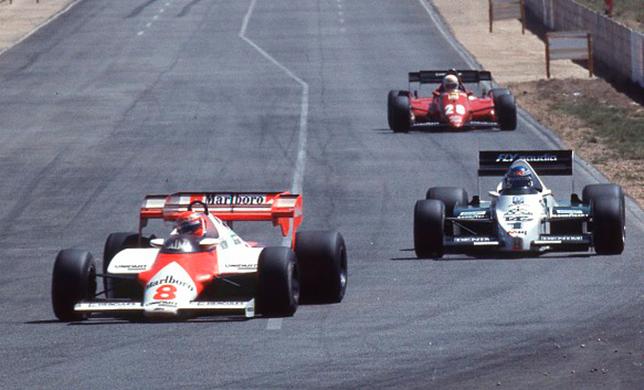 Ники Лауда, Нельсон Пике и Рене Арну на Гран При ЮАР 1984 года