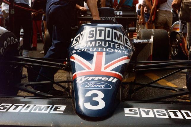 Tyrrell Стефана Йохансона на Гран При Нидерландов 1984 года