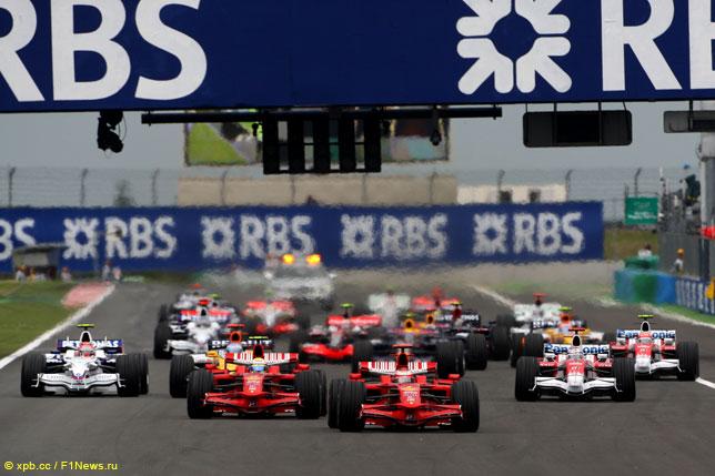 Старт Гран При Франции 2008 года в Маньи-Куре
