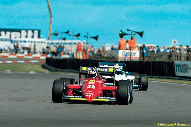 Рене Арну на Гран При Бразилии 1985 года