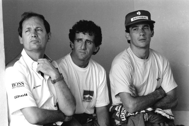 Рон Деннис, Ален Прост и Айртон Сенна, 1989 год