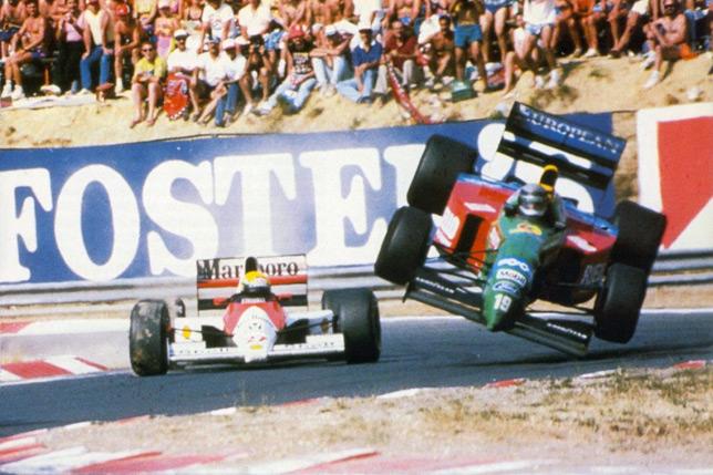 Столкновение Айртона Сенна и Алессандро Наннини на Гран При Венгрии 1990 года
