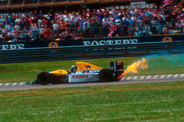 Сход Деймона Хилла на Гран При Великобритании 1993 года