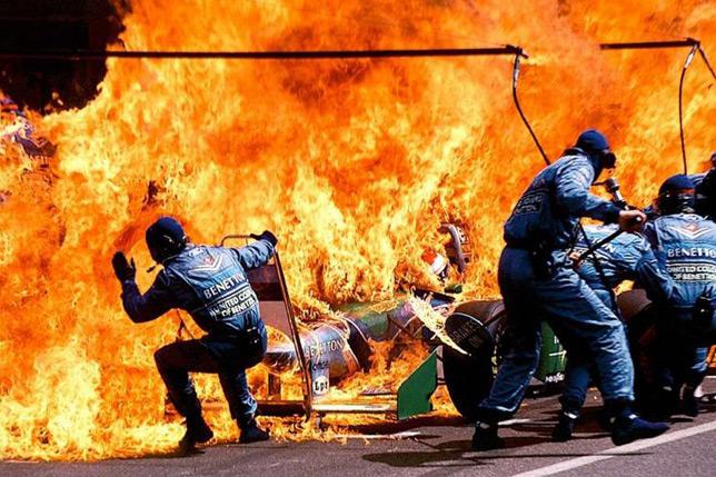 Пожар на пит-стопе Йоса Ферстаппена, Гран При Германии 1994 года