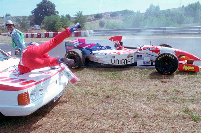 Инцидент с Таки Инуэ на Гран При Венгрии 1995 года