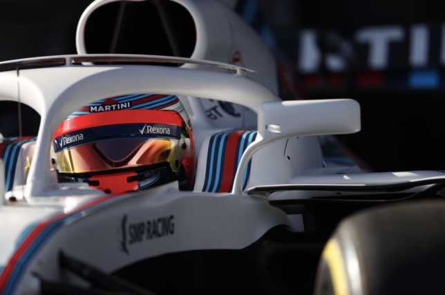 Роберт Кубица в кокпите Williams FW41
