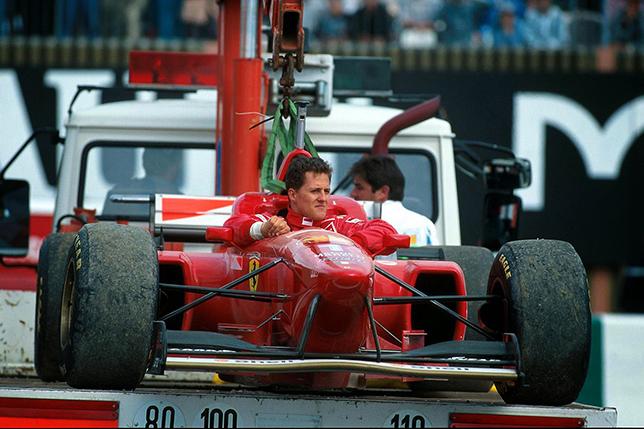 Михаэль Шумахер на Гран При Франции 1996 года