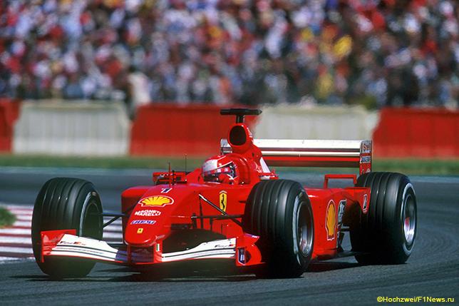Михаэль Шумахер на Гран При Франции 2001 года