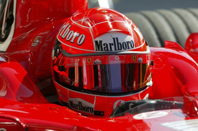 Михаэль Шумахер на Гран При Европы 2004 года
