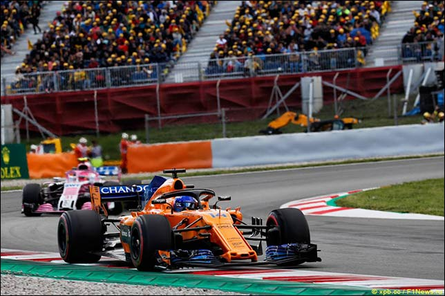 Фернандо Алонсо на Гран При Испании
