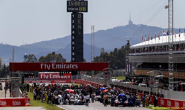 Стартовое поле Гран При Испании